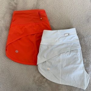 lululemon Speed Shorts- 2 PAIRS!